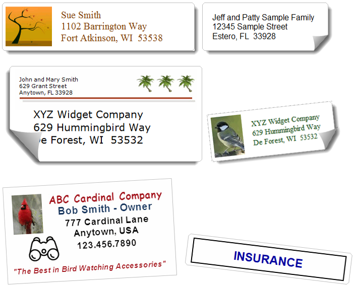 Print Address Book Labels on Common Avery Labels