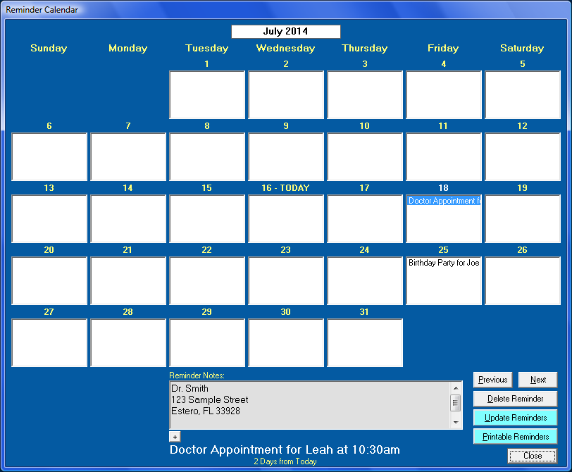 Calendar Wallpaper With Reminder : Free appointment reminder calendar software donloading